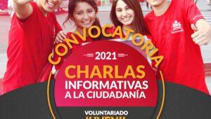 Voluntariado del JNE realizará charlas  Informativas virtuales para jóvenes